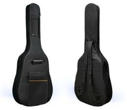 Wholesale Straps For Guitars - 2015 HOT SALE 600D Water-resistant Gig Guitar Bag Backpack Shoulder Straps Pockets 5mm Cotton Padded Black for 39 40 41 Inchs Guitar