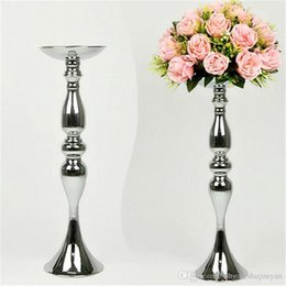 Wholesale Led Event Decorations - 12inch 20inch 43inch height metal candle holder candle stick wedding centerpiece event road lead flower stands rack vase home decoration