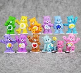 Wholesale Care Bear Wholesale - Great 12pcs lot care bears Japanese original anime figure kids toys for boy girl