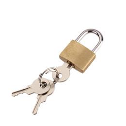 2019 elektronische tastensperren Mini Größe Vorhängeschlösser Kupfer Key Lock - Massives Messingschloss (2er Pack) für den Innen- und Außenbereich
