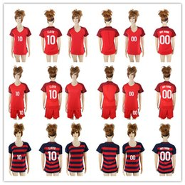 Wholesale Women Suits Shorts - 1718 women's World Cup Soccer Jersey USA Michael Bradley Clint Dempsey and #10 LLOYD Women's short-sleeved football suit