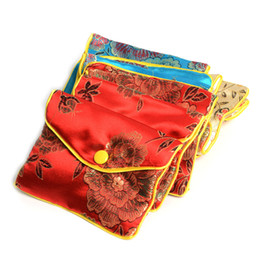 Wholesale Wholesale Silk Jewelry Bags - 2015 Free Shipping New 36Pcs Mixed Colors 8*10Cm Jewelry Silk Purse Pouch Chirstmas Party Gift Bag