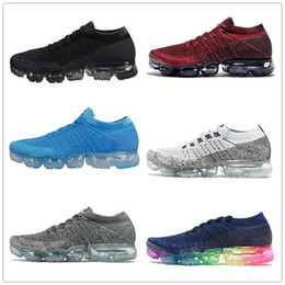 Wholesale Blue Max - 2017 New Rainbow VaporMax 2018 BE TRUE Men Woman Shock Running Shoes For Real Quality Fashion Men Casual Vapor Maxes Sports Sneakers