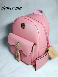 Wholesale South Korean Fashion Dresses - M76-79 Shoulder bag female Korean version pu backpack fashion simple college style ladies bag Japan and South Korea 2017
