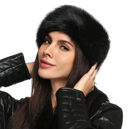Atacado-Senhoras Faux Fur Hat HeadBand Inverno Ear Warmer Hat Ski Faixa de cabelo Head Earmuff cheap faux fur winter headband de Fornecedores de headband do inverno da pele do falso