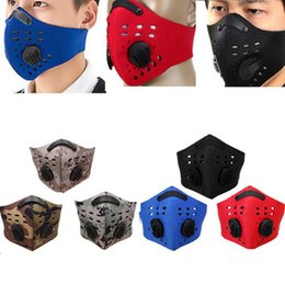 Filtro de ar para esportes on-line-Sport Mouth-muffle Dustproof Air filter Masks Bicycle Ski Anti-pollution Mask Ski Dust Proof Face Masks 17 Styles OOA3712