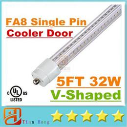 Wholesale Epistar Led T8 Tube - Super Bright 32W T8 Led Tube Light 1500mm 5FT Cooler Door V-Shaped Single Pin FA8 Led Tubes Lamp Warm Cold White AC 85-265V + UL cUL