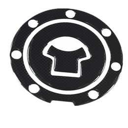 Wholesale Motorcycle Tanks - 1pcs Carbon Fiber Tank Pad Tankpad Protector Sticker For Motorcycle Universal Free Shipping