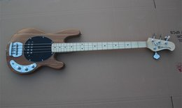 Wholesale Wood Instruments Music - Free shipping Bass Guitar Sting Ray 4 Music Man Nature Wood Electric Bass Best Musical instruments