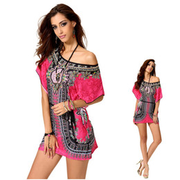 Wholesale Hot Dresses For Ladies Sexy - 3 color hot dongguan New african fashion design african traditional print cotton dashiki clothing women gown for lady t shirt dress