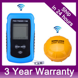 Wholesale Box Portable Fishing - NEW Wireless Portable Fish Finder Depth Sonar Sounder Alarm Transducer Underwater Fishing Boat Fishfinder Bite Alarm Retail Box order<$18no