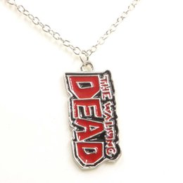 """Wholesale Movie Theme - Movie Jewelry Winters Alloy Alphabetic Letter Pendant Necklace """"The Walking Dead"""" Theme Necklace Mens Jewelry Necklace"""