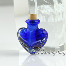 Großhandel miniatur glasflaschen online-Miniatur-Glasflaschen Anhänger für Halskette Großhandel kleine dekorative Glas flashsnecklace Flasche Anhänger