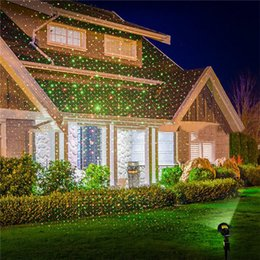 Wholesale Full Moving - Wholesale- Trecaan Outdoor Moving Full Sky Star Christmas Laser Projector Lamp Green&Red LED Stage Light Outdoor Landscape Lawn Garden Ligh