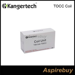 Wholesale kanger t3s coils - 100% Authentic Kanger T3S MT3S Coil (TOCC) Coil head Japanese Organic cotton wick t3s TOCC Wick for MT3S T3S atomizer DHL