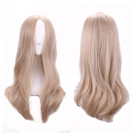Wholesale Cheap Blonde Synthetic Wigs Curly - women heat resistant cosplay wigs carve long blonde wig lolita cheap good quality rapunzel wig curly synthetic wigs sale 68cm