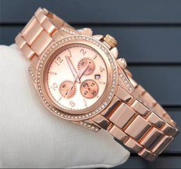 Wholesale Gold Rose Michael - Hot Selling Quartz Wristwatch Ladies Watches men's Women Fashion Watch Brand michael watch quartz watch silver gold rose gold m.k 001