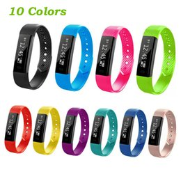 Wholesale Reminder Alarm Iphone - ID 115 Smart Bracelet Fitness Tracker Step Counter Activity Monitor Band Alarm Clock Vibration Wristband for iphone Android phone PK tw64