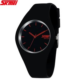 Wholesale Jelly Watch Unisex - High Quality Brand SKMEI 2015 New Famous Silicone Sport Watch Quartz Casual Watch Style Women Dress Men Unisex Jelly Wristwatch