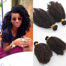 afro onda tecer cabelo humano Desconto Onda afro brasileira 6 Pacotes Tramas de Cabelo Virgem Kinky Curly Hair Tece G-EASY Extensões de Cabelo Humano virgem Frete Grátis