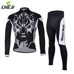 Wholesale Road Racing Clothing - Wholesale-2015 Ghost Wolf Men Cycling Jerseys Breathable Quick Dry Road Mountain Bike Racing Clothing Professional Cycling Jersey Pants