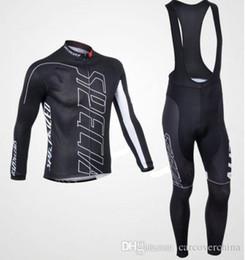 Argentina 2016 Nuevo 2 colores hombres ciclismo de invierno Jersey establece mangas largas flexibles con estilo flexible respirable y pantalones del babero Suministro