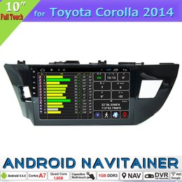 Wholesale Corolla Radio Bluetooth - Special for Toyota Corolla 2013 2014 Car Dvd GPS In Car Video Player Quad Core Android Radio with Bluetooth Full Touch Canbus Optional