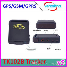 Wholesale Andriod Accessories - 5pcs TK102B GPRS GPS Tracker TK102 B Full Accessories Mini Car Vehicle Tracker Mini Global 4 bands ZY-DH-05