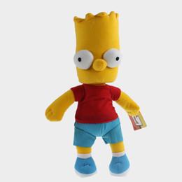 Wholesale Bart Simpson Doll - Wholesale-Anime Cartoon The Simpson Bart Simpson Soft Plush Stuffed Doll Toy Gift 34cm Free shipping
