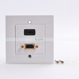 Wholesale Repeater Panel - HDMI VGA Component Composite Audio Video Wall Face Plate Repeater Panel