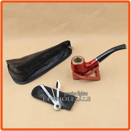 Wholesale Pouch Tobacco - FIREBIRD ! 4-in-1 Classic Cigar Cigarette Smoking Pipe Set + Tobacco Pipe Cleaning Tool+Pipe Bag Pouch