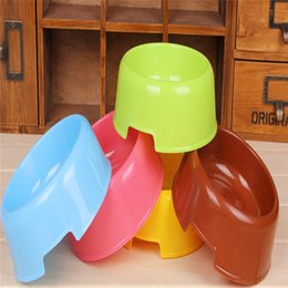 Wholesale Cheap Wholesale Dog Bowls - Wholesale-11.5*13.5*5.5cm plastic bowls dogs feeding tool quality and cheap pet bowl 5 colors supply wholesale dogs feeder accessories