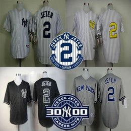 Wholesale 2016 New Derek Jeter Jersey NY New York Jersey Baseball Jersey Sports Jerseys w Commemorative Retirement Patch Embroidery Logos