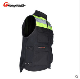 Wholesale Fluorescent Vests - Wholesale-Motorcycle riding Nocturnal reflective vest racing Fluorescent safety clothing RD Tribe JK-34 Orange and Green color
