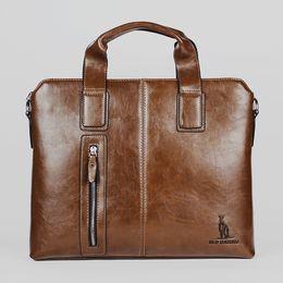Wholesale Messenger Bag Men Discount - Wholesale-discount !! new 2015 Business leather men's bags men messenger bags men's gift travel bags men's leather briefcase