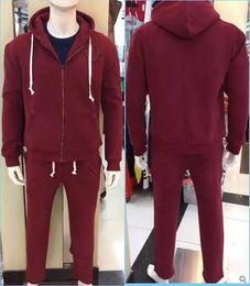 Wholesale Top Branded Men Suits - Fashion top quality Designer men Tracksuits US size Brand true sweat suit man Sport Suit coat jacket Hoodie Sweatshirts