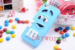 Wholesale Cartoon Casing Galaxy Grand - 3D Cartoon M&M Rainbow Bean Soft Silicone Case Cover for Samsung Galaxy A3 A5 A7 E5 E7 Trend3 Grand Prime Grand Core Prime