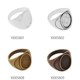 Wholesale Flatback Charms - 10x14mm Round Bronze Cabochon Photo Glass Cabochon Flatback for Rings DIY