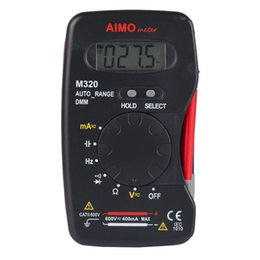 Wholesale Range Size - Aimometer M320 Pocket Size Auto range Handheld Digital Multimeter DMM Frequency Capacitance Measurement Data Hold