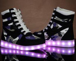 Wholesale Clear Colorful Boots - 2015 Rain Boots Botas High Heels Skateboarding Shoes Sports Casual Colorful Led Luminous Couples Men And Women Large Size 20 Kinds of Styles