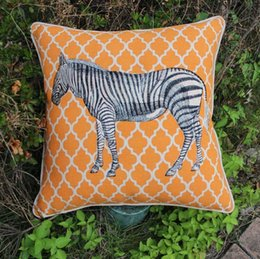 Canada VEZO HOME brodé Afrique jungle imprimé zèbres géométrique coton lin canapé coussins coussins décoratifs pour la maison 18