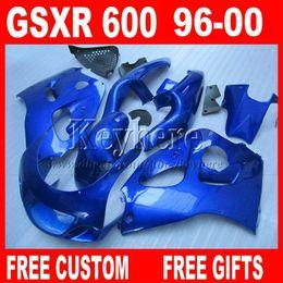 2019 grün 1998 zx7r Alle blauen Verkleidung Kit für SUZUKI SRAD 96 97 98 99 00 GSXR600 GSXR750 Kunststoff Verkleidungsteile gsxr 600 750 1996 1997 1998 1999 2000 5E7W