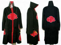 Wholesale Naruto Akatsuki Cosplay Cloak - drop shipping new Naruto Akatsuki Cloak Sasuke Itachi Wind Dust Coat Orochimaru uchiha madara Cosplay Costume