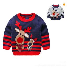 Wholesale Boys Knit Sweater Pattern - Christmas Autumn Winter boys Sweaters Cartoon Kids Sweater Knitting Patterns boy Pullover Sweaters Sweater Coat Boys Kids Clothes A1423