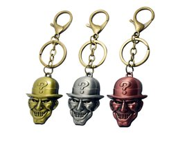 Wholesale Factory Outlet Products - New Metal cartoon film charm rudder compass masks factory products Outlets Punk Leather Key Rings Jewelry Retro Alloy Keychain drop shipping