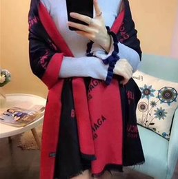 Wholesale Shawl Accessories - Letter small logo female new brand design Paris royal men and women shawl style cashmere scarf 200cm*65cm simple fashion scarf