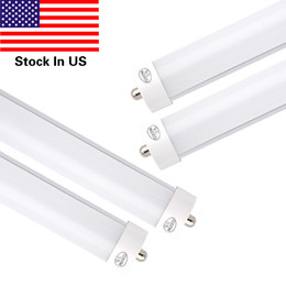 Wholesale Al Base - T8 LED Light Tube 8ft 45W (90W equivalent) 4800Lm Ultrahigh Brightness,FA8 Single Pin Base,6000K Cold White,Frosted pc Cover+AL,25-pack