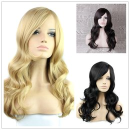 Wholesale Half Wig Pieces - New fashion girl Synthetic Wigs women party Long Blonde Falls half wig Hair Piece Synthetic Hairpiece
