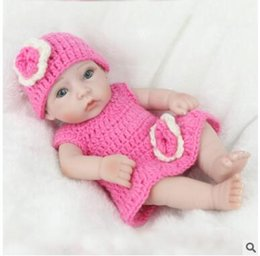 Wholesale Reborn Baby Dolls Boys - Reborn Baby Dolls Real Doll Handmade Reborn 28cm Real Looking Newborn Baby Girl and boy Silicone Realistic Doll 3 styles