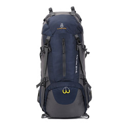Wholesale Large Travel Hiking Backpacks - High Quality Outdoor Backpacks Mountaineering Sports Travel Bags 60L Large Capacity Outdoor Sports Packs Camping Hiking Climbing Backpacks F